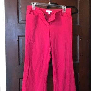 New York and Company Red Boot-Cut Dress Pants